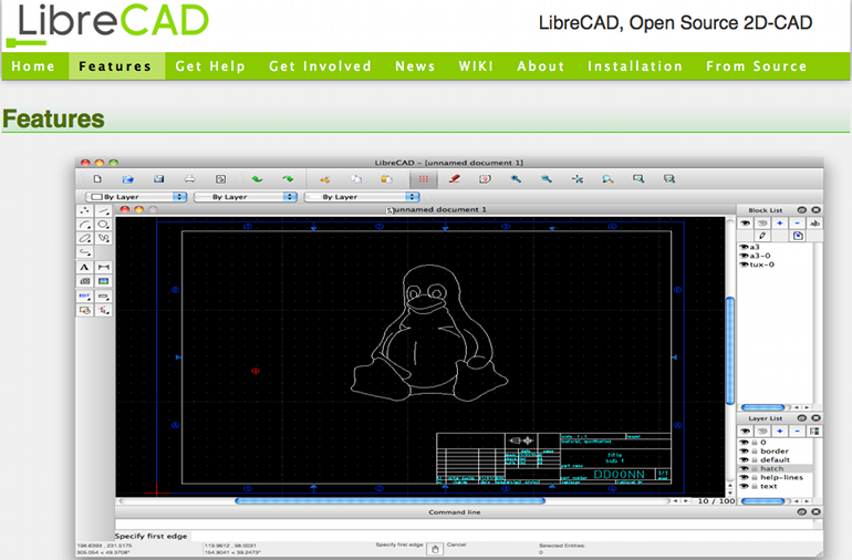 screenshot LibreCAD