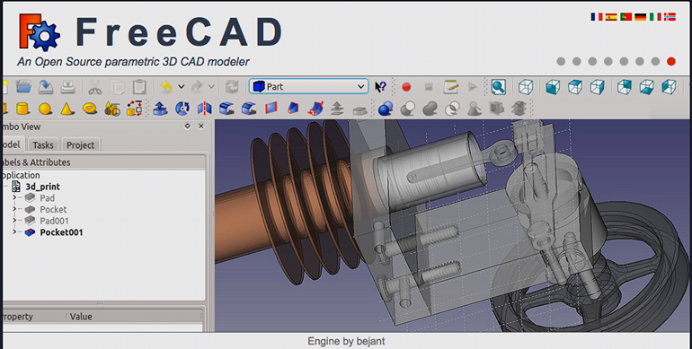 screenshot software disegno CAD LibreCAD