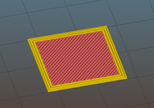 How GCode for 3D printer work - one simulated extruded layer