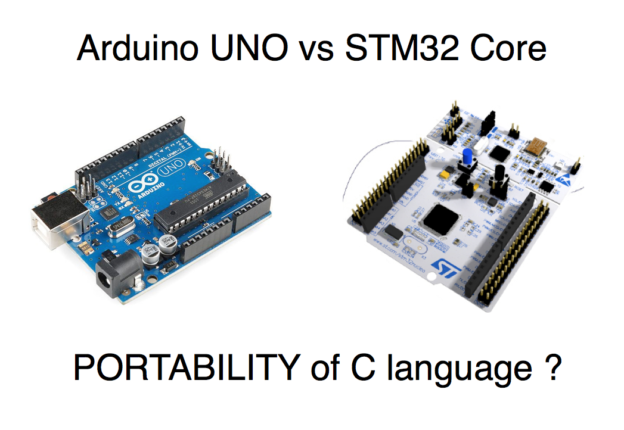 portability of Arduino c language on STM32 Core